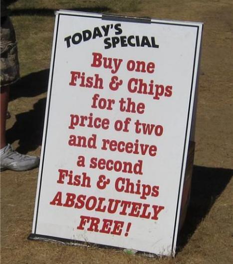 Extrapris på Fish N' Chips