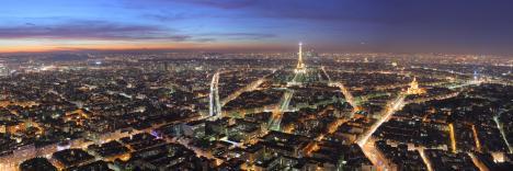 Panorama över Paris