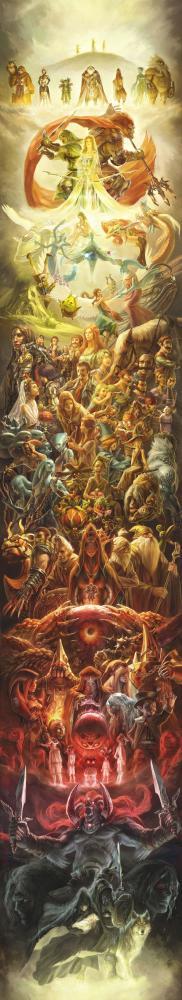 Zelda-serien hyllas med mastodontmålning