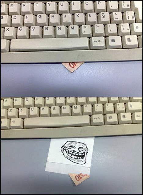 Kul och enkel luring med tangentbord