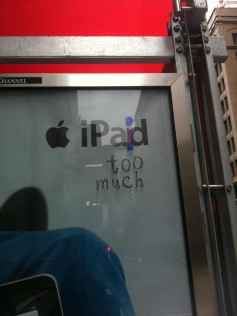 Missnöjd iPad-ägare