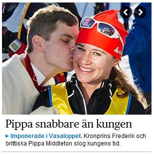 Pippa snabbare än kungen (DN)