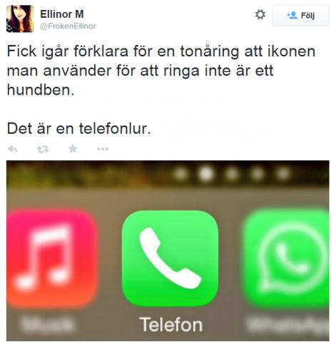 Telefonen är inte ett hundben