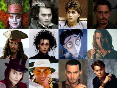 Johnny Depps många ansikten