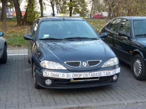 Smart registreringsskylt-hack