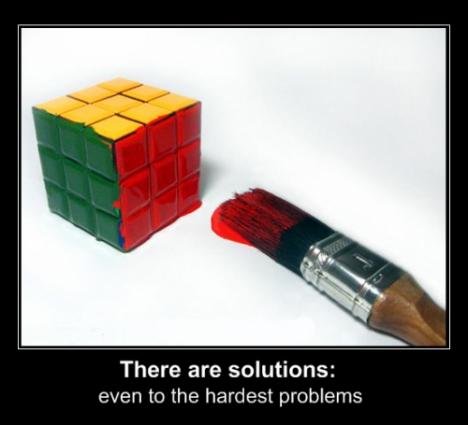 Enkelt knep för att lösa kuben