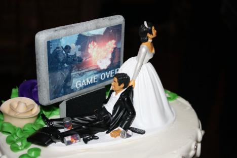 Game Over för kille som precis har gift sig.